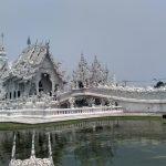 El famoso Templo Blanco de Tailandia.