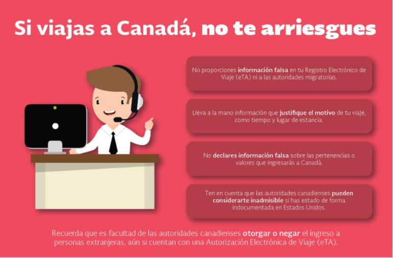 Mexicanos para viajar a Canadá eta