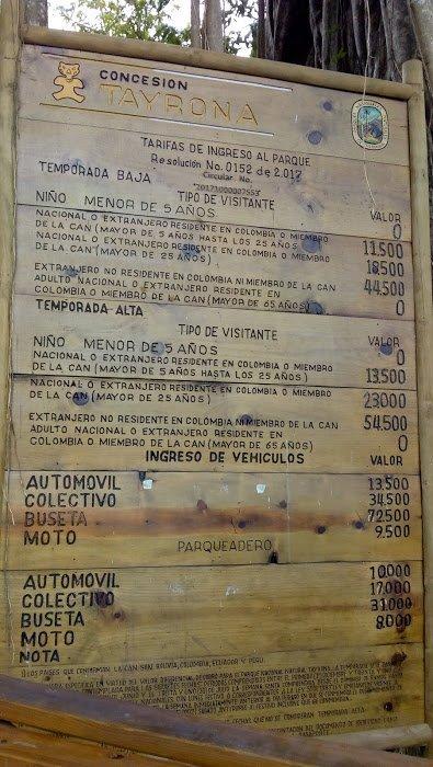 qué visitar en colombia en 15 días costos tayrona