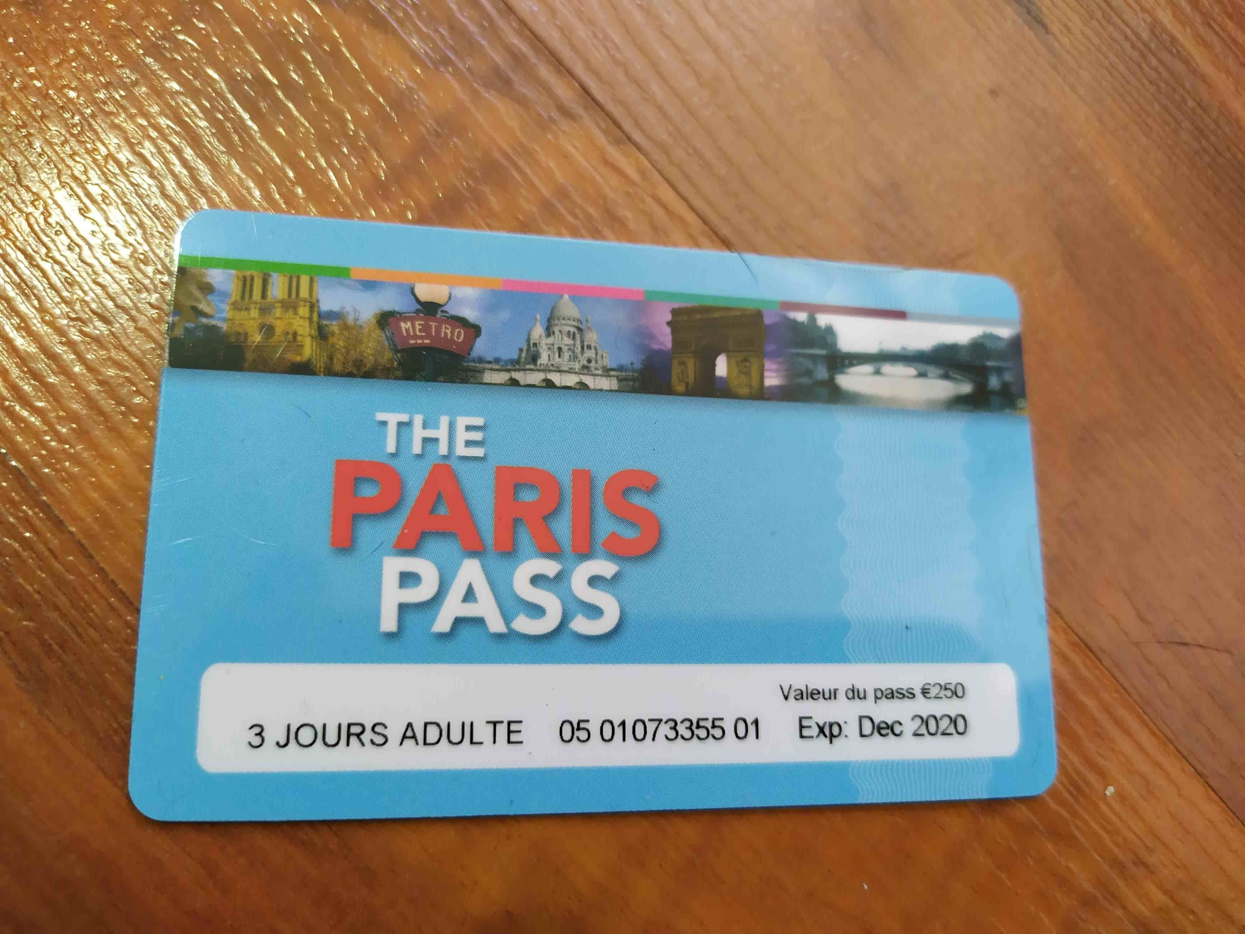 tarjeta paris pass 3