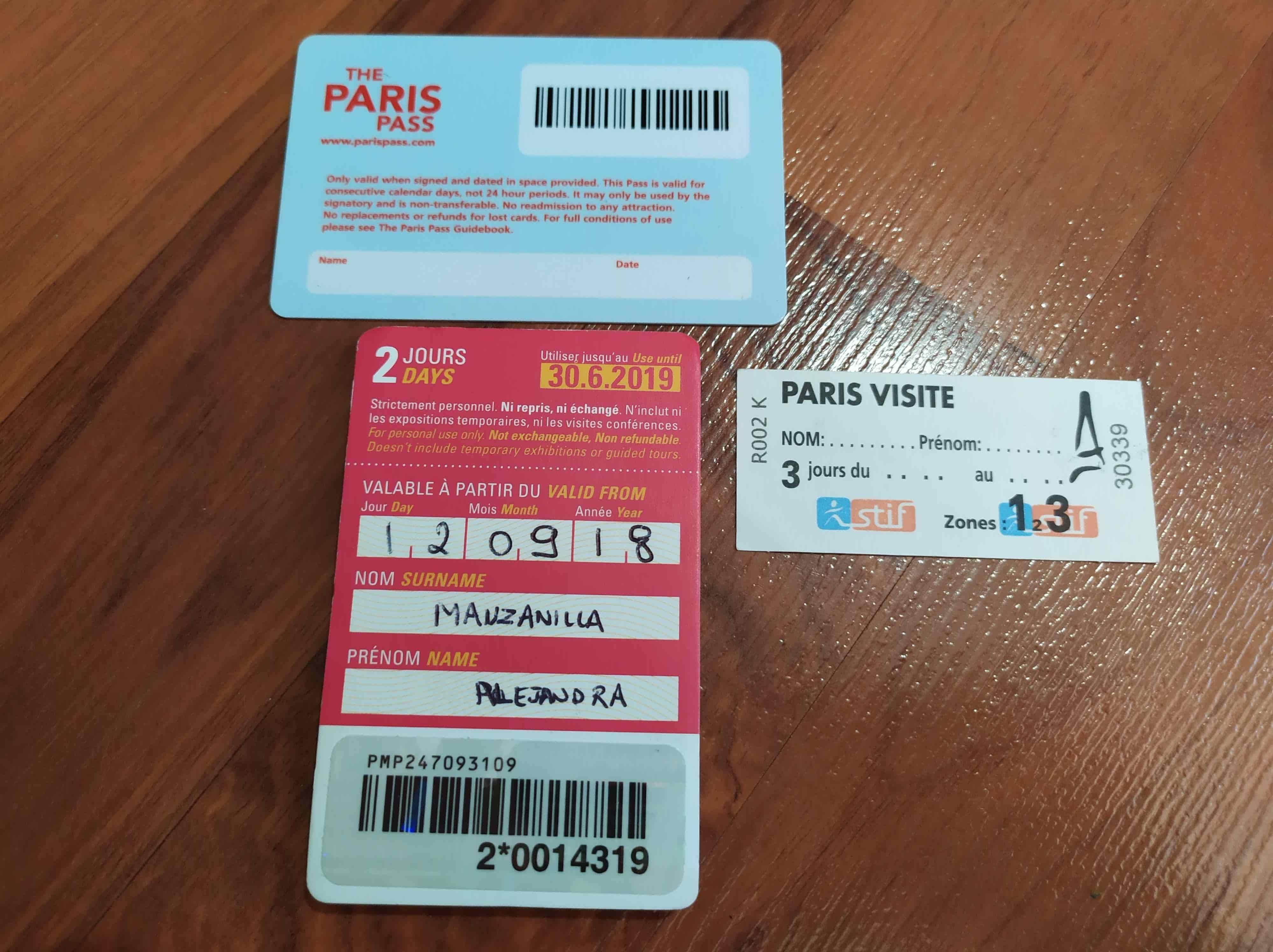 tarjeta paris pass 5